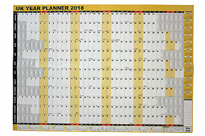 2018 A1 Large Year Wall Planner for Home/office work unmounted folded calendar