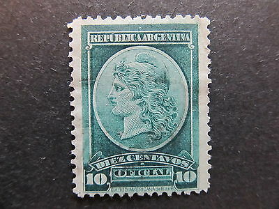 A4P29 Argentina Official Stamps 1901 10c used #37