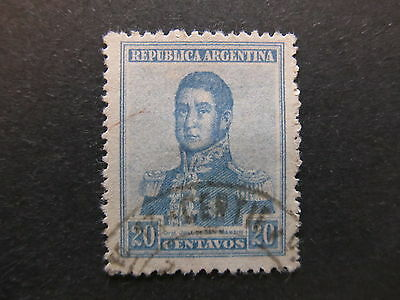 A4P29 Argentina 1918-19 Unwmk 20c used #74