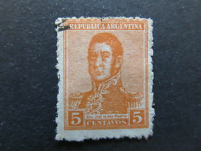 A4P29 Argentina 1918-19 Unwmk 5c used #70