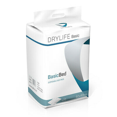 1x Absorbent Disposable Drylife Bed Pads - 60cm x 90cm - Pack of 25 - 1400ml
