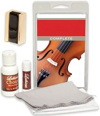 SuperSlick Violin / Viola Care and Cleaning Kit - Includes Dark Rosin
