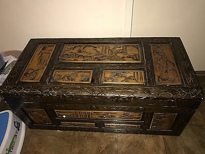 Large Wooden Chest Box