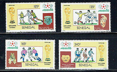 Senegal 1986 World Cup Football set unmounted mint