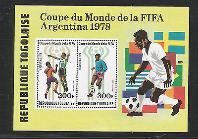 Togo 1978 World Cup Football MS unmounted mint