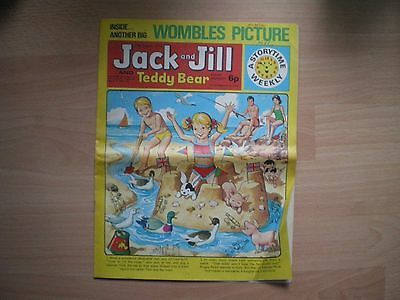 Jack And Jill And Teddy Bear Comic - 17Th August 1974 - Vintage Childrens Comic