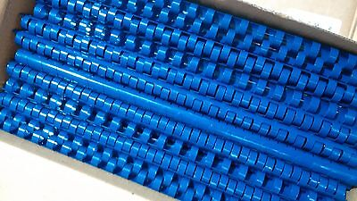 Plastic Binding Combs Royal Bright Blue A4 21 Ring Loop
