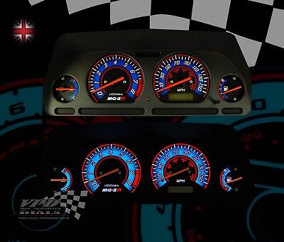 MG-ZR Rover speedo clock led light bulb dash panel custom dial kit