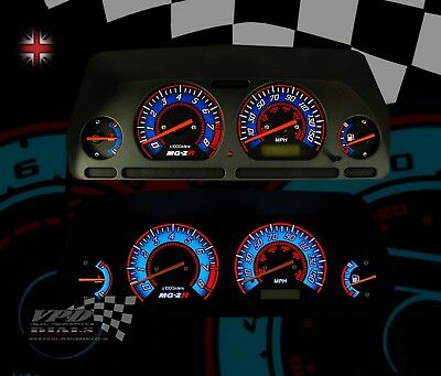 MG-ZR Rover speedo dash custom interior bulb lighting upgrade custom dial kit