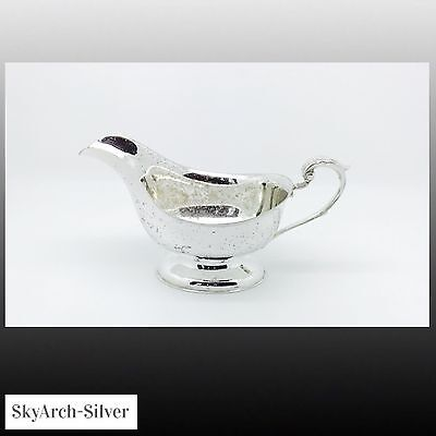 SILVER PLATED GILT Sauce Boat c1920 SILVER PLATE GRAVEY BOAT