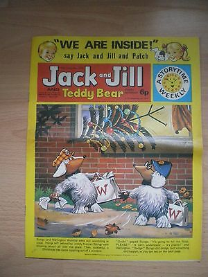 Jack And Jill And Teddy Bear Comic, 14Th December 1974 - Vintage Childrens Comic