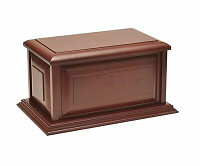 Large Traditional Cherry Finish MDF Wood Cremation Urn, Adult, Beautiful