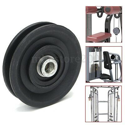 """3.5""""/90MM Universal Nylon Bearing Pulley Wheel Cable Gym Fitness Equipment Part"""