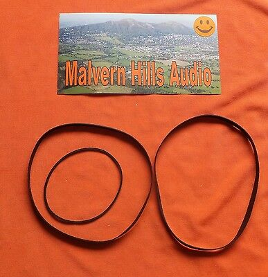 3 x Piece Drive Belt Set for The Aiwa AD-WX 777 AD-WX777 Cassette Deck Brand New