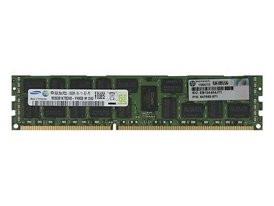 647897-B21 664690-001 647650-071 8Gb Dual Rank Pc3L-10600 (Ddr3-1333) Memory