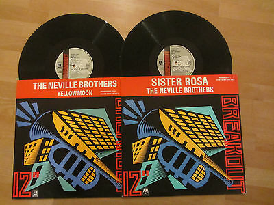 """The Neville Brothers ~ Sister Rosa / Yellow Moon ~ 2 X 12"""" ~ 1989 Soul Funk R&b"""