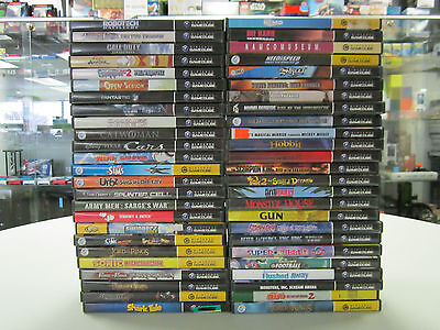 Lot of 50 Nintendo GameCube Games - Free Shipping!