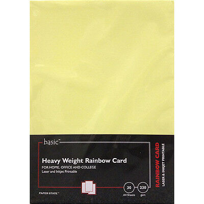 PaperState - Basic A4 Heavyweight Rainbow Card - 230 Gsm - 30 Sheets