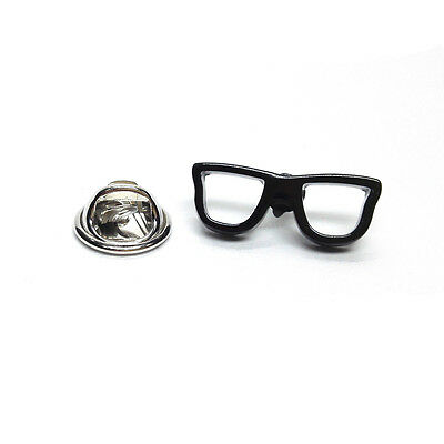 Geeky Black Glasses Lapel Pin Badge Tie Pin Gift For Him