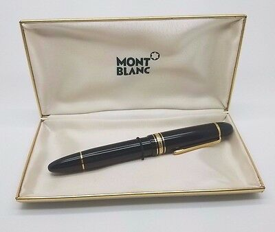 Montblanc Meisterstock 75th Anniversary 14K Yellow Gold Fountain Pen #149 In Box