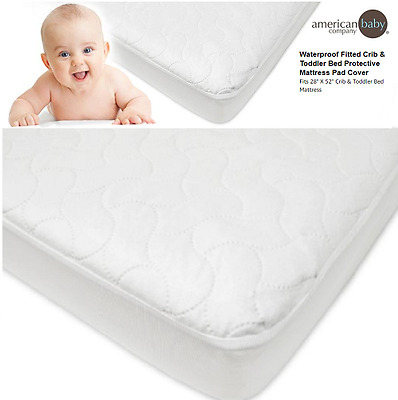 Toddler Mattress Cover Waterproof Fitted Crib Pad Baby Bedding Girls Boys Kids