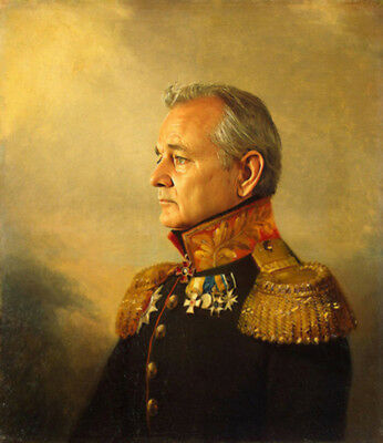 Hand painted General Portrait Oil Painting Art on Canvas Bill Murray No Frame 30