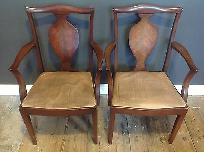 6 Vintage Mid Century G Plan Dining Chairs E Gomme 2 Carvers