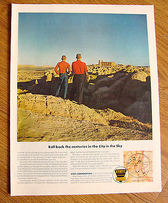 1962 Ethyl Gasoline Ad Acoma City in the Sky in the Southwest