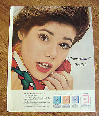 1963 Kotex Ad -   Proportioned? Really?