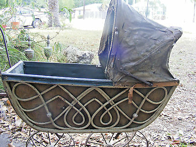 Antique Child's Doll Carriage / Buggy / Stroller, Wicker Design