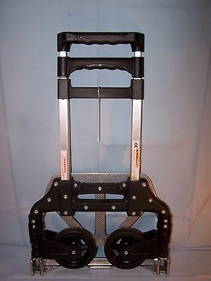 Folding Portable HAND TRUCK DOLLY Utility Moving Cart LIGHTWEIGHT ALUMINUM   EUC