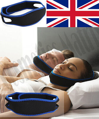Anti Snoring Chin Strap Belt Jaw Chin Stop Snoring Sleep Apnea Support Solution