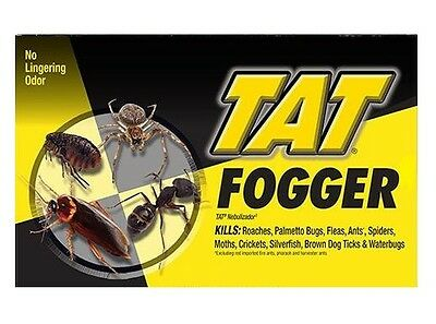 NEW TAT Insect Fogger No Lingering Odor Treats 2000 CuFt Single 2oz. Can or 3 pk