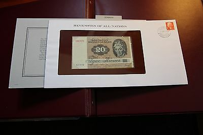 Banknotes of All Nations Denmark 20 Kroner P49a.1 1972 (1979) P7 UNC RMC 156