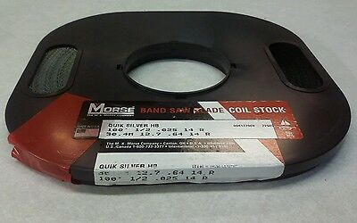 "Morse Bandsaw Blade Coil Stock 1/2"" .025 14R 100Ft New (Loc1234)"
