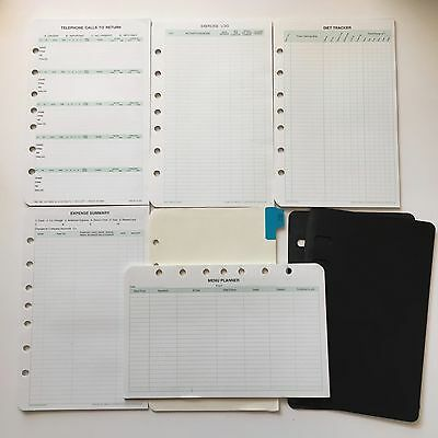Planner Pages Lot Pads Diet Tracker Expense Menu Call Log Address Dividers