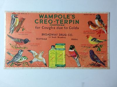 1940's Wampoles Creo-Terrin Compound Scottdale Pa Blotter  534