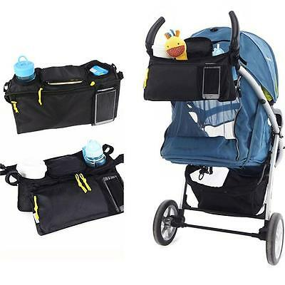 Travel Baby Pram Storage Bag Diaper Stroller Organizer Pushchair Bottle New 6a