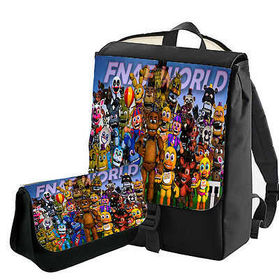 Five Nights At Freddy's Double Backpack Bag / Pencil Case Bagbase Freddy World