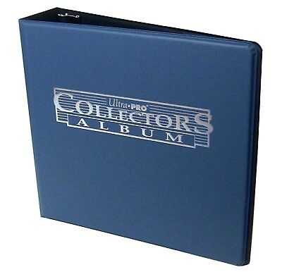 """3"""" Ultra Pro Collectors Navy Blue 3-Ring Binder + 50 Top Loading 9-pocket Pages"""