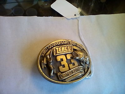 Zebco 1988 33 rd Anniversary Fishing Belt Buckle