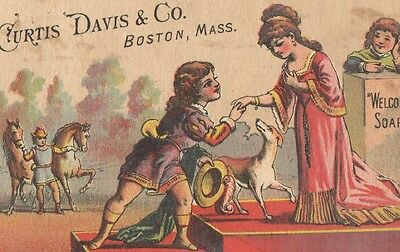 Victorian Trade Card The PROPOSAL Curtis Davis & Co WELCOME SOAP Boston, Mass