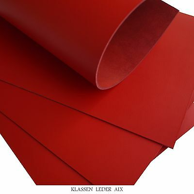 Buffalo Leather Red 2,5 mm Thick Croupon Cowhide Piece LARP Skin 133