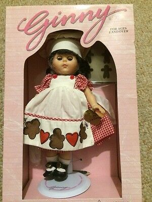 """Vintage 1980 Ginny America Sweetheart Doll 8"""" Baker Gingerbread Dress New In Box"""
