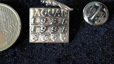 Jaguar Pin Badge 60 Years Jahre 1935 1995 edel alt Top Logo