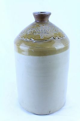 Nice Antique 2 Gallon Worksop & Retford Brewery Co. Stoneware Jug Crock