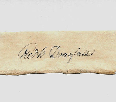 Frederick Douglass Autograph Reprint On Genuine Original Period 1850s Paper