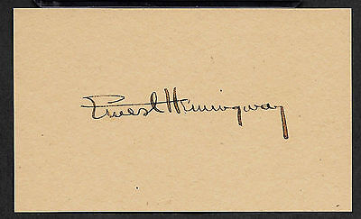 Ernest Hemingway Autograph Reprint On Old 3X5 Card