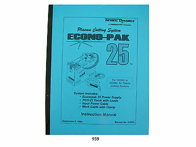 Thermal Dynamics EconoPak 25 Plasma Cutter  Instruction Manual *959