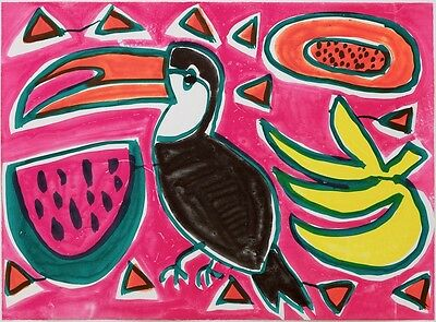 Katherine Bernhardt Merengue Print Signed and Numbered Edition of 100